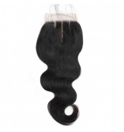 JadanRemy Virgin Human Body Wave Hair with Three Part Swiss Lace Closure