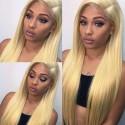 Jada Fashionable 613 Brazilian Human Straight Blonde Hair Lace Closure