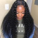Jada Good Quality Brazilian Hair Curly 3 Bundles with Swiss Lace Closure