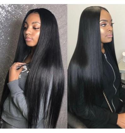 Jada Affordable Brazilian Human Straight Hair 3 Bundles Lace Frontal