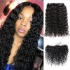 Jada Natural Hair Extension 3 Bundles with Lace Frontal Brazilian Water Wave