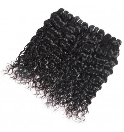Jada Hair 100% Virgin Peruvian Human Hair Water Wave Weave in 4 Bundle