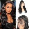 Jada Long Black Brazilian Virgin Hair Loose Wave Lace Closure Wigs
