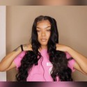 Jada Black Long Human Hair Bundles in 3 pcs with Lace Closure Body Wave Hair