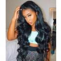 Jada Peruvian 4x4 Lace Closure Body Wave Human Hair Wigs in 3 Bundles