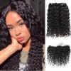 Jada Remy Malaysian Human Water Wave Hair 3 Bundles with Lace Closure