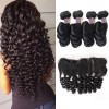 Jada Remy Indian Loose Wave 4 pcs Bundle Deals with Lace Frontal Closure