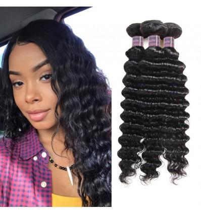 Jada Hair Discount Natural Malaysian Virgin Deep Wave Hair Weave Wigs