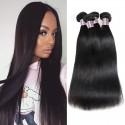 Jada Hair 4 PCS Grade Straight Peruvian Virgin Hair Bundle Weave Wig