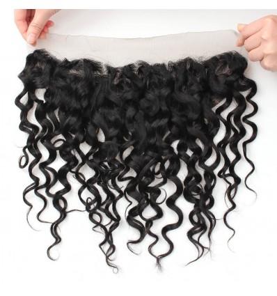 Jada Hair Comfortable 13x4 Lace Frontal Water Wave Closure Black Hair