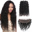 Jada Hair 100% Remy Indian Human Water Wave 3 Bundles Lace Frontal Hair