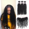 Jada Hair Indian Bundle Natural Curly Wave Hair Pieces with Lace Frontal
