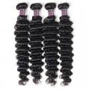 Jada Hair Indian Human Hair Weave Deep Wave 4 Bundles Extension Hair