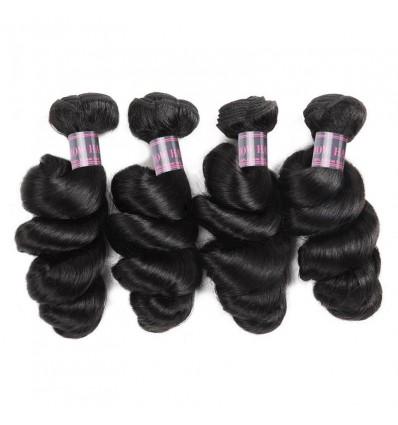 Jada Hair Loose Wave Brazilian Virgin Hair 4 Bundle Deals Hair Extension