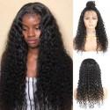 Jada Natural Black Deep Wave Brazilian Human Wigs with Lace Closure