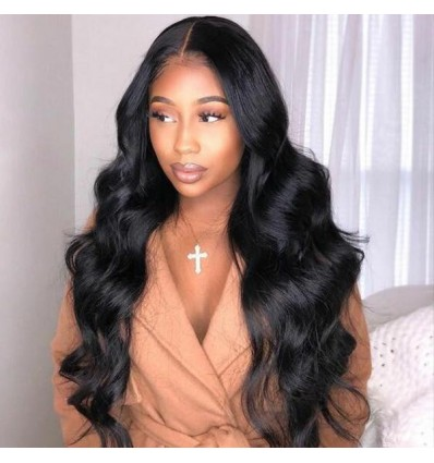 Jada Hair Full Lace Front Wigs Indian Virgin Hair Body Wave Weave Wig