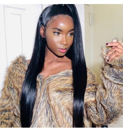Jada Hair 10A Grade 13x4 Straight Hair Swiss Lace Front Human Hair Wigs