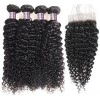 Jada Factory Price Brazilian Raw Curly Hair Bundles with Lace Closure