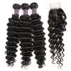 Jada Long Virgin Brazilian Hair Deep Wavy Bundles with Lace Closure