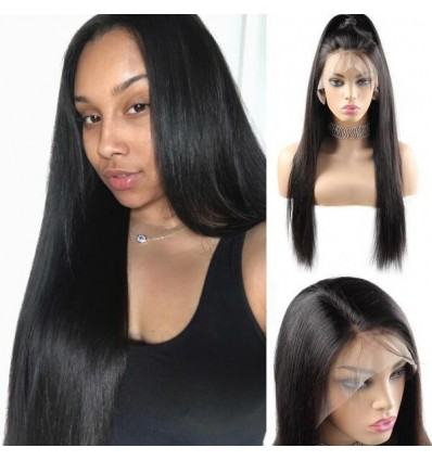 Jada Natural Virgin Malaysian Straight Hair Weave with Lace Closure