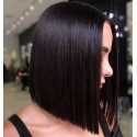 Jada Middle Part Silky Straight Short Bob Human Hair with Lace Closure