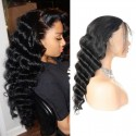 Jada Virgin Malaysian Human Hair Loose Deep Wave Wigs with Lace Front