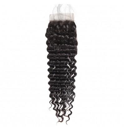 Jada Unprocessed Virgin Human Deep Wave Hair with Swiss Lace Closure