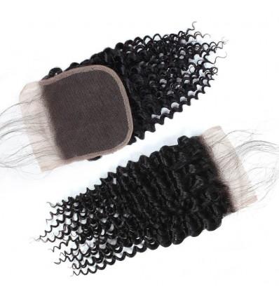 Jada Virgin Curly Human Hair 4*4 Lace Closure with Baby Hair