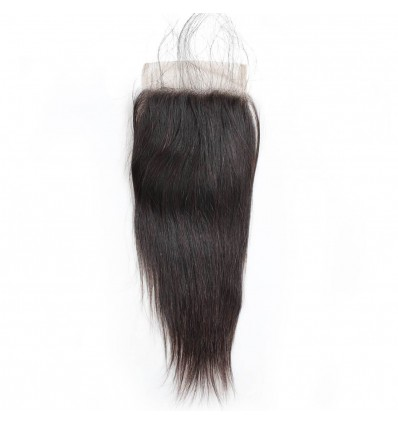 Jada Free Part Straight Remy Virgin Hair with 4x4 Lace Closure for Braiding