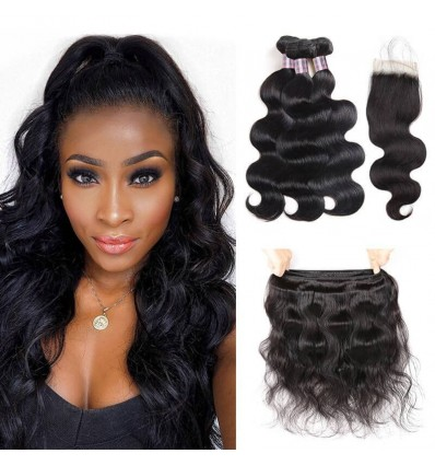 Jada Soft Indian Virgin Hair Body Wave Bundles with Lace Closure