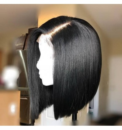 Jada Hair Natural Black Short Peruvian Remy Straight Human Bob Wigs