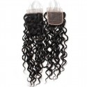 Jada Glueless Water Wave Remy Human Hair Bundles with Swiss Lace Closure