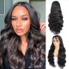 Jada Realistic Remy Brazilian Human Body Wave Hair Wigs with 4x4 Swiss Lace Front