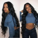 Jada Glueless Malaysian Body Wave Lace Front Remy Virgin Hair Wigs