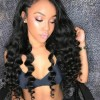 Jada High Density Peruvian Virgin Hair Loose Deep Wave Wigs with Lace Front