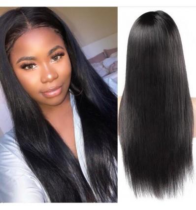 Jada Malaysian Human Virgin Straight Black Hair 360 Lace Front Wigs
